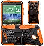 G-Shield Hülle für HTC Desire 510 Stoßfest Schutzhülle mit Ständer - Orange