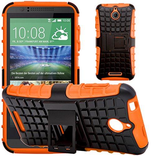 G-Shield Hülle für HTC Desire 510 Stoßfest Schutzhülle mit Ständer - Orange (Desire Slim Htc 510 Armor Case)