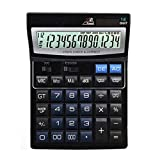 ZHAS Calculadora de sobremesa profesional,Office/Business/calculadoras electrónicas con pantalla grande de 14 dígitos, solar y pilas AAA de alimentación dual para oficina