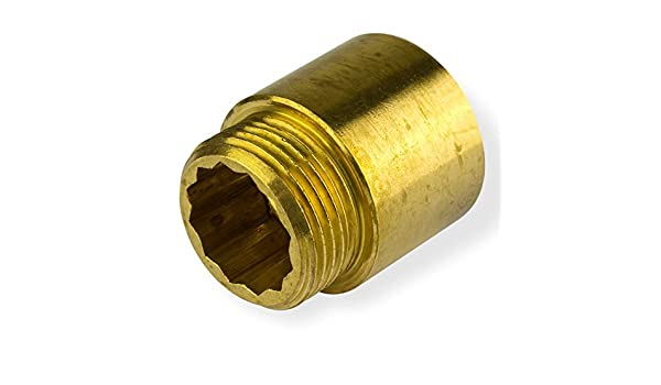 """Hahnverlängerung 1//2/""""x30mm Messing Gewindeverlängerung Rohrverlängerung Fitting"""