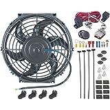 "American V 10""pulgadas Motor Radiador eléctrico ventilador ajustable termostato sonda Sensor Kit"