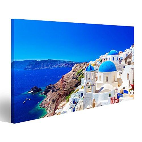Quadri moderni città di Oia sullisola di Santorini Grecia. Case tradizionali e famose u Stampa su tela Quadro x poltrone salotto cucina mobili