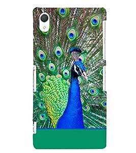 PrintVisa Fablous Peacock 3D Hard Polycarbonate Designer Back Case Cover for Sony Xperia Z2