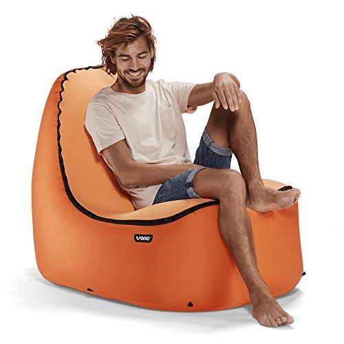 TRONO Aufblasbarer Loungesessel mit Rückenschonung | Geben Sie sich nicht mit einer Luftsofa Zufrieden, Hängen Sie Anstattdessen auf einem Leicht Aufblasbaren, Bequemen, Kompakten, Leichtgewichtigen und Langlebigen Outdoor-Sofasessel ab!