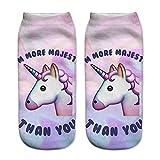HENGSONG Damen Mädchen Cartoon Einhorn Socken Sport Socken Strümpfe Füßlinge Bunt Motiv