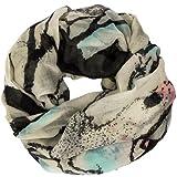 CASPAR Damen Loop/Schal / Schlauchschal mit ausgefallenem Phantasie Print - viele Farben, Farbe:mint