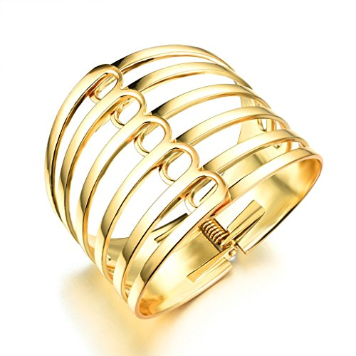 Epinki-Damen-ArmbandEdelstahl-Hohl-Form-Damenarmband-Charme-Armkettchen-Armschmuck-Gold-17-CM