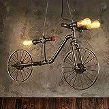 3-Head Vintage Fahrrad Deckenpendelleuchte Persönlichkeit Wasserleitung Hängelampen Amerikanische Industrielle Nostalgische Schmiedeeisen Pendelleuchte Bar Bekleidungsgeschäft Kronleuchter Beleuchtung