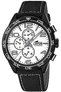 Lotus 15780/1 - Reloj para hombres, correa de cuero color negro de Lotus