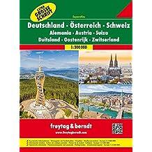 Freytag Berndt Autoatlanten, Deutschland - Österreich - Schweiz, Extra große Schrift, Spiralbindung - Maßstab 1:300.000