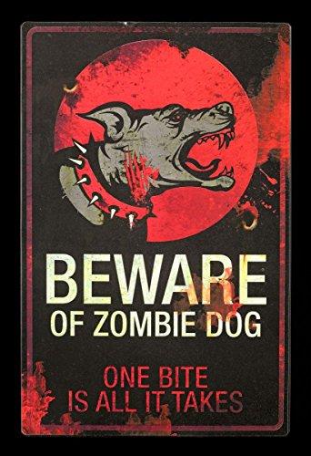 re Of Zombie Dog   Warnschild Hund Blechschild Warnung (Zombie Gartendeko)
