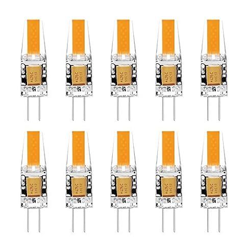 G4 LED Lampe Birne - Ascher 10er-Pack G4 LED Leuchtmittel 2W 210 Lumen [Ersetzt 20W Halogen, AC/DC 12V, Warmweiß, 360° Abstrahlwinkel] G4 LED