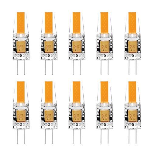G4 LED Lampe Birne - Ascher 10er-Pack G4 LED Leuchtmittel 2W 210 Lumen [Ersetzt 20W Halogen, AC/DC 12V, Warmweiß, 360° Abstrahlwinkel] G4 LED Leuchtmittel -