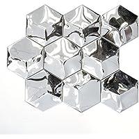 azulejos mosaico mosaico azulejos Acero Inoxidable Brillante 3d Cocina Baño Inodoro 12mm) # 687