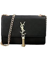 743d8d97e9e53 FXTKU 2018 Damen Sommersaison Quaste Weibliche Tasche Paket Kette  Umhängetasche Mini-Tasche Handtasche (Groß