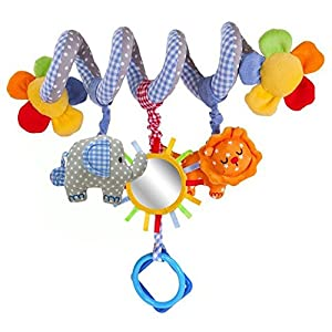 Chinatera Baby Music Bed Hanging & Cribs Decorations Elepahant Lion with Mirror and Bell