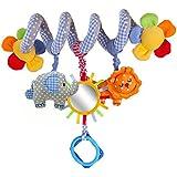 Chinatere ES03 Espiral de actividades para cuna y cochecito diseño divertido espejo zoo