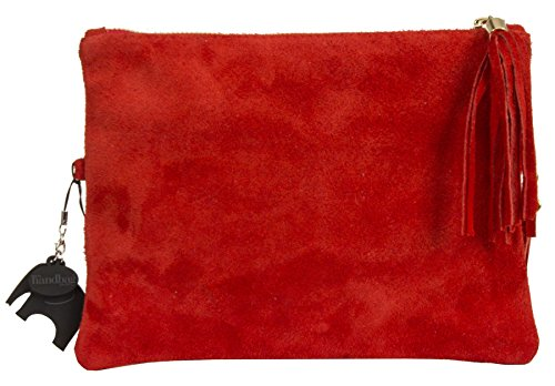 Big Handbag Shop, Borsetta da polso donna Red