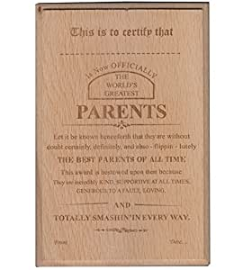 Atpata Funky World's Best Parents Certificate / Award