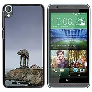 MobileHut - HTC Desire 820 - Starwars Mech - Mince Noir plastique couverture Shell Armure Coque Coq Cas Etui Housse Case Cover - Starwars Mech