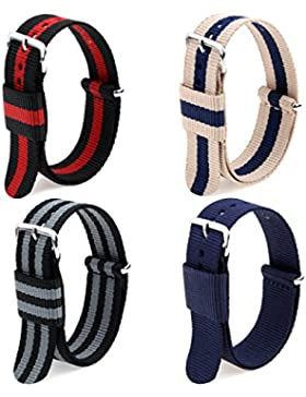 Ritche Nato Strap Armband 20mm Nylon Ersetzbares Uhrenarmband Uhr Strap For