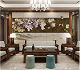 Apoart papier peint Mur de fond tv salon art et fleur rétro 200X140cm(78.74 * 55.11in)