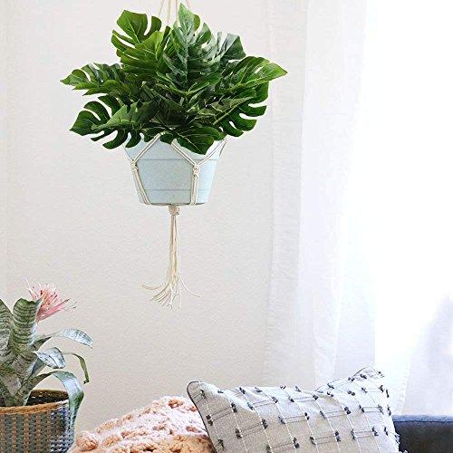 2Bündel Köstliches Fensterblatt Split Blatt Philodendron Künstliche Fensterblätter Leaf Pflanzen Kunstseide Palm Blättern Dekorationen Greenery Stielen Blumen-Arrangement