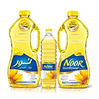 NOOR Sunflower Oil, 2 x 1.8 Litre + 750 ml