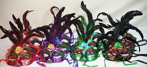 ausgefallene Dress-Dance-Shows-Groups-Ballroom-Christmas-Black Schwan-Phantom der Oper-Maskerade Ball Masquerade MASKEN - Packungen mit 12 (Maskerade Masken Ausgefallene)
