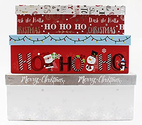 Merry Christmas Stapeln, Geschenk Box Set 3 Pack Luxus Traditionelle Süße Weihnachts Boxen