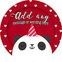 Panda Bear Sticker Labels Personalised Custom Seals Ideal for Party Bags Sweet Cones Favours Jars Presentations Gift Boxes Bottles Crafts