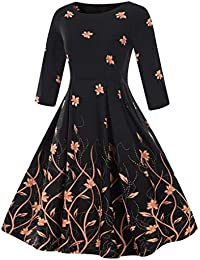 Amazon.it  vestiti anni 50 - A pieghe   Vestiti   Donna  Abbigliamento ed3a1f60870