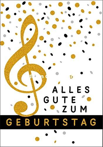 Glckwunschkarte-ZUM-GEBURTSTAG-NOTE-GOLDGLIMMER