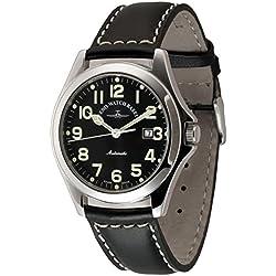 Zeno-Watch Herrenuhr - Ghandi Pilot Automatic - 8112-a1
