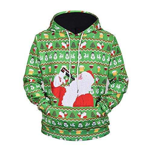 (Legogo Herren Weihnachtsentwürfe mit Kapuze Verdicken Freizeit und Mode Herren und Damen Sweatershirt(XL,Blumen))