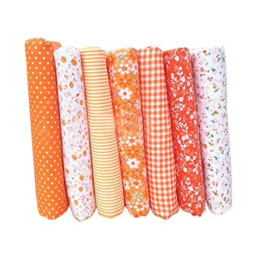 Quilten Bekleidung (Level 7pcs Baumwolltuch Textilhandwerk Stoff Bundle Patchwork Stoff DIY Nähen Quilten Blumenmuster)