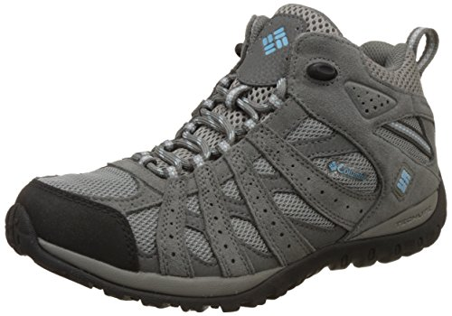 Columbia Damen Redmond Mid Waterproof Damen Trekking- & Wanderhalbschuhe, Grau (Light Grey/Sky Blue 060), 40 EU
