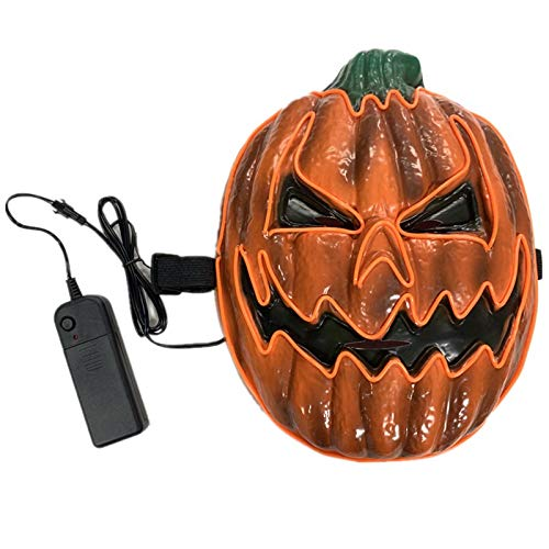 FULEWEI 2019 Pumpkin Halloween LED Mask For Home Party Cosplay Face Mask Tool Decoration (Halloween-power 2019 Light And)