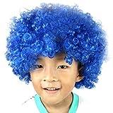 Lazzboy Maskerade Haar Party Disco Lustige Afro Clown Haar Fußball Fan-Kinder Afro Perücke(M,Mehrfarbig A)