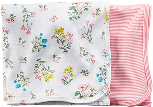 Carters Baby Girls' Floral Swaddle Blanket - by Carter's