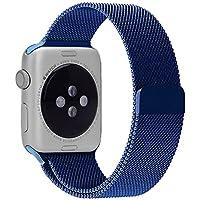 Apple-Band, 42 mm drunkqueen® Milanese Loop-Braccialetto in acciaio INOX, Bracciale per cinturino orologio, 42 mm, Apple & Sport unico & interamente magnetiche, con chiusura con fibbia, non necessarie)
