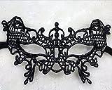 German Trendseller® - Schwarze Spitze Augenmaske Schmetterling Maskerade Venezianische Maske Abendkleid Tanz