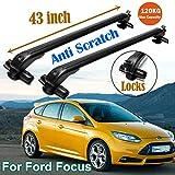 SiKy Lot de 2 Barres de Toit en Aluminium pour Ford Focus 2000-16 101,9 cm