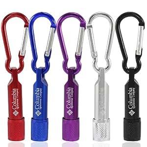 Großhandel von 5x/viel Mini Colorful Columbia LED Taschenlampe Taschenlampe Licht Karabiner Schlüsselanhänger Outdoor für Wandern Klettern Geburtstag Party...