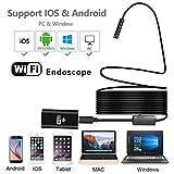 CRZJ Wireless WiFi Telecamera di Endoscopio, Endoscopio Impermeabile per Telefono Cellulare HD, per Smartphone Android e iOS, iPhone, Samsung, Tablet PC - Nero 1 Metro