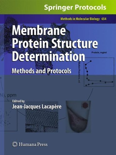 Membrane Protein Structure Determination: Methods and Protocols (Methods in Molecular Biology) by Humana Press (2010-08-06)