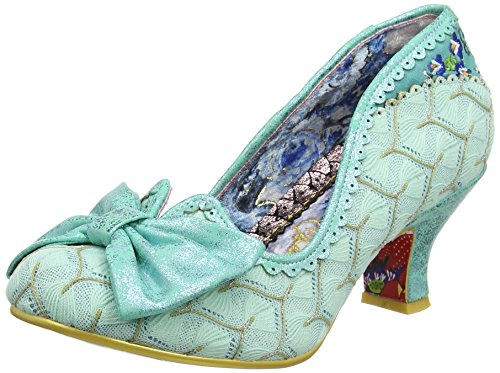 Irregular Choice Damen Always Smile Pumps, Grün (Mintgrün), 40 EU