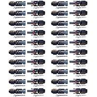 BESTONZON 20 pares de conectores de cable de panel solar macho / hembra MC4 Conector de anillo de sello impermeable