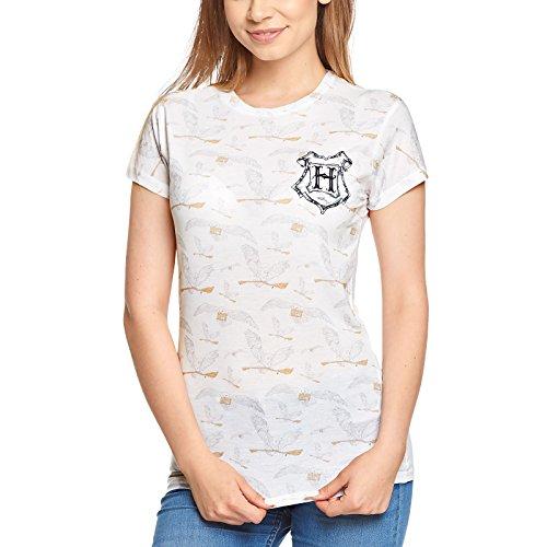 HARRY POTTER Damen T-Shirt Eule Hedwig weiß - XXL