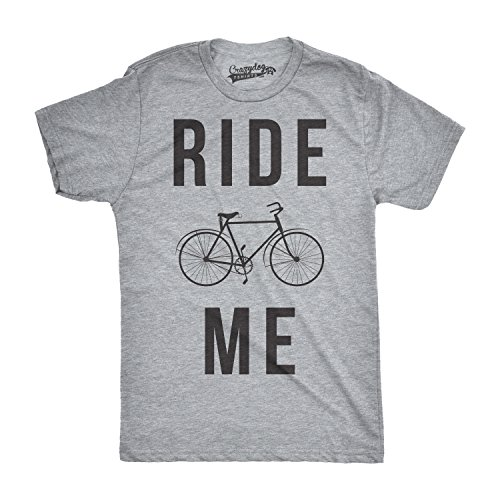 Crazy dog tshirts mens ride me funny t shirts hilarious vintage bicycle novelty cool t shirt (grey) xxl - divertente uomo maglietta